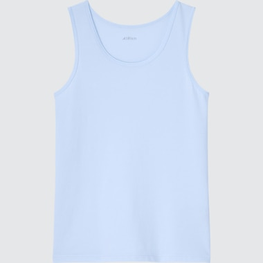 Kids Airism Cotton Blend Tank Top (Online Exclusive), Blue, Medium