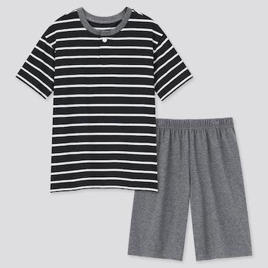 Kids AIRism Cotton Blend Short Sleeve Set