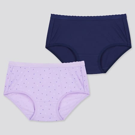 Girls AIRism Cotton Blend Shorts (Two Pack)