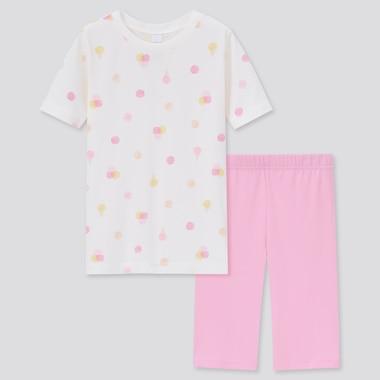Girls Airism Cotton Blend Set, Pink, Medium