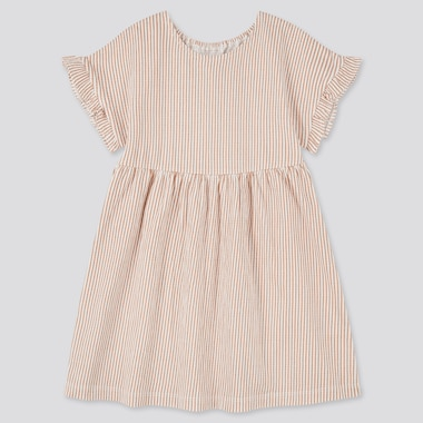 Toddler Short-Sleeve Dress (Online Exclusive), Brown, Medium