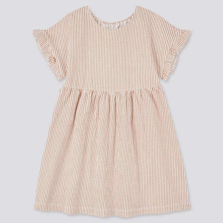 Toddler Short-Sleeve Dress (Online Exclusive), Brown, Large