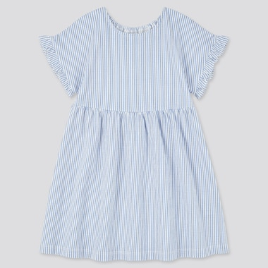 Toddler Short-Sleeve Dress (Online Exclusive), Blue, Medium