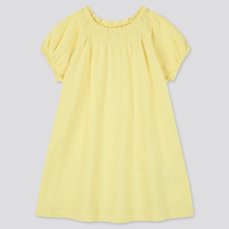 Toddler Short-Sleeve Dress (Online Exclusive), Yellow, Large