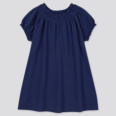 Toddler Short-Sleeve Dress (Online Exclusive), Navy, Medium