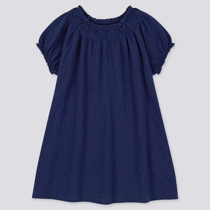 Toddler Short-Sleeve Dress (Online Exclusive), Navy, Large