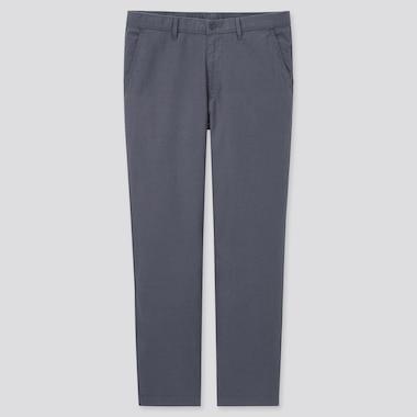 Men Linen Blend Relaxed Fit Trousers