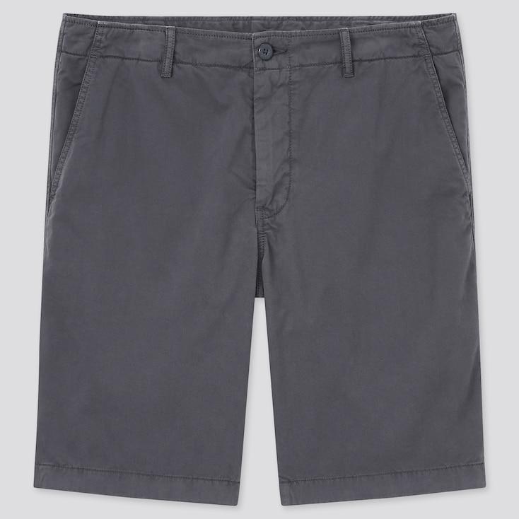 Men Chino Shorts, Dark Gray, Large
