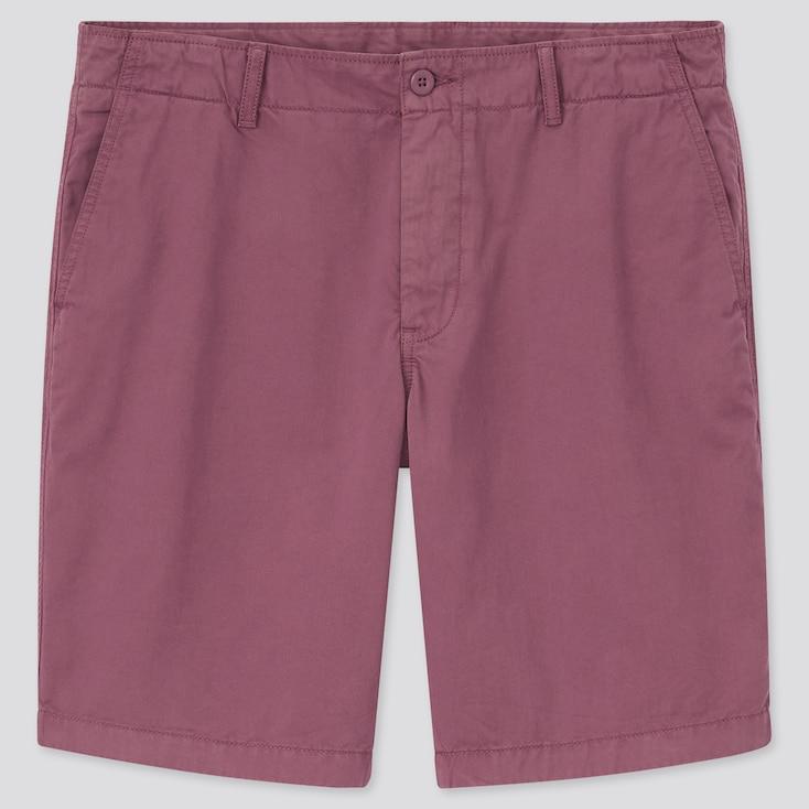 Men Chino Shorts, Red, Large