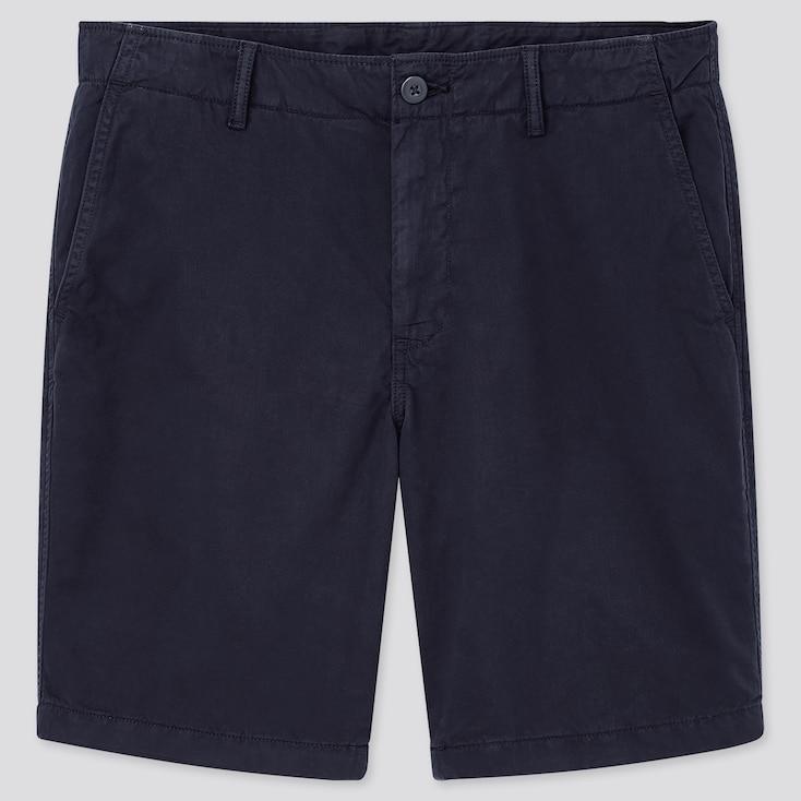 Men Chino Shorts, Navy, Large