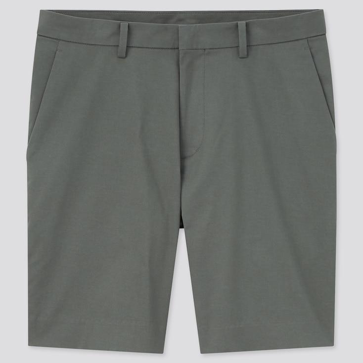 Men Stretch Slim-Fit Shorts, Olive, Large