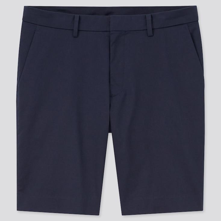 Men Stretch Slim-Fit Shorts, Navy, Large
