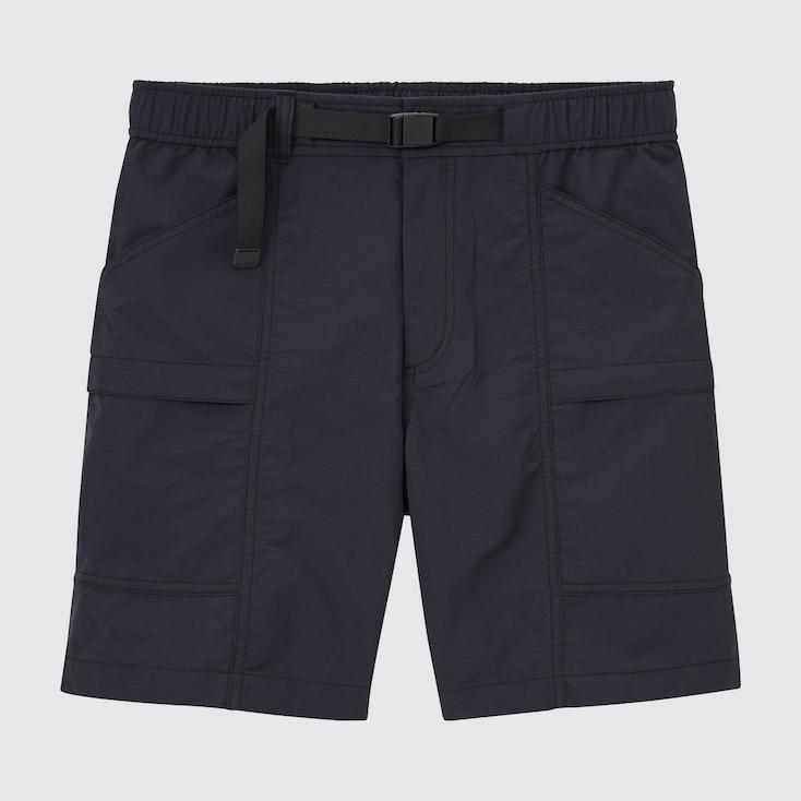 Nylon Utility Geared Shorts, Black, Large