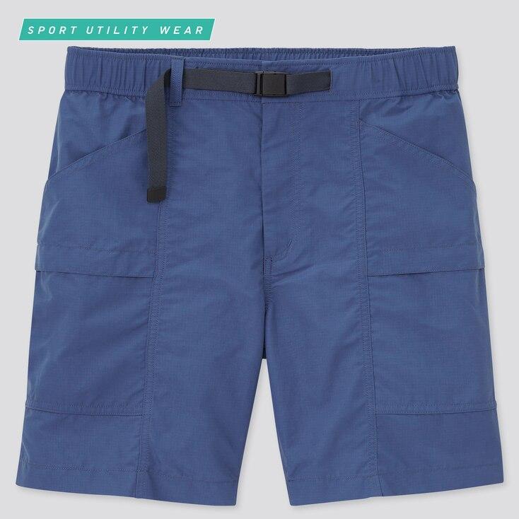 Nylon Utility Geared Shorts, Blue, Large