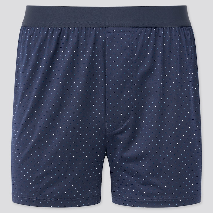 Men Airism Dotted Boxers, Navy, Large