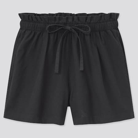 Women Cotton Linen Blend Relax Shorts
