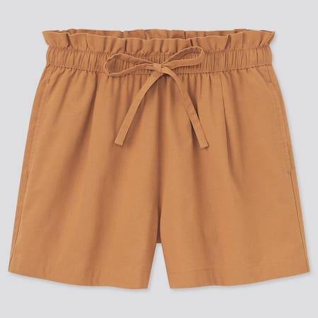 Shorts Cotone Misto Lino Relax Donna