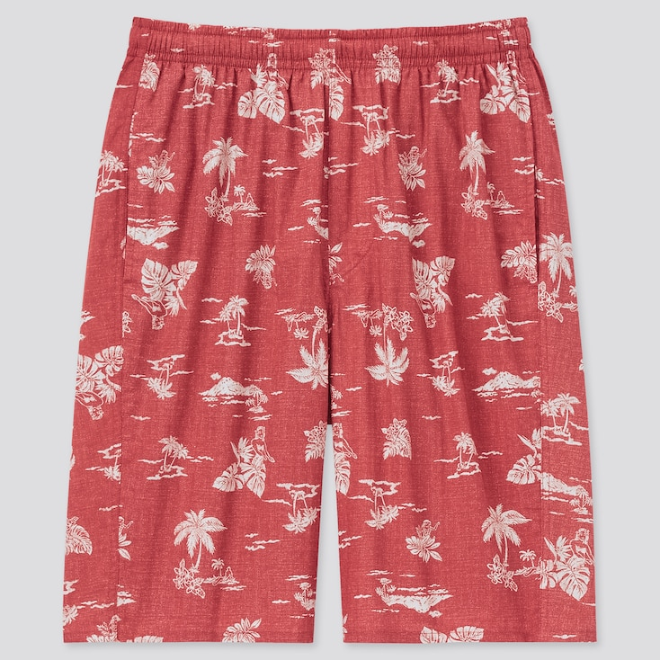 Men Light Cotton Easy Shorts (Online Exclusive), Red, Large