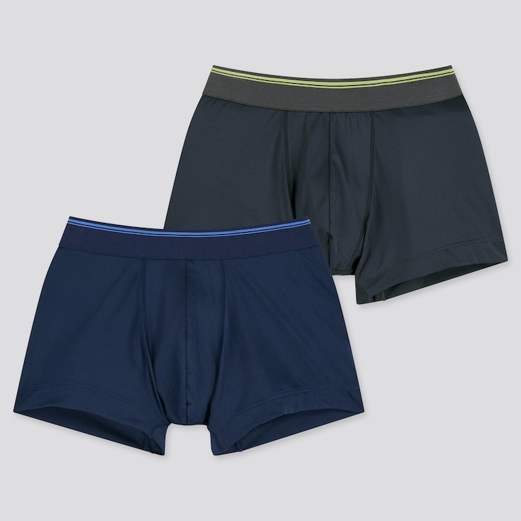 Boys Airism Boxer Briefs (Set Of 2), Navy, Large