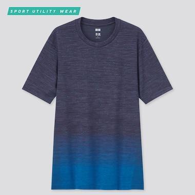 Men Dry-Ex Crew Neck Short-Sleeve T-Shirt, Navy, Medium
