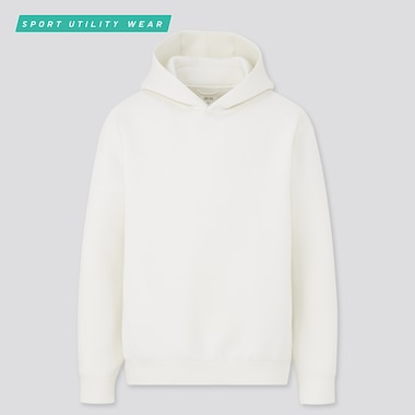 Men Ultra Stretch Dry Sweat Pullover Hoodie, Off White, Medium