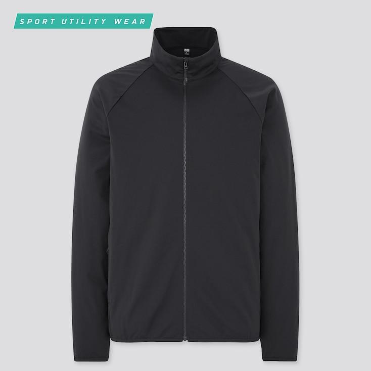 Men Ultra Stretch Active Jacket, Black, Large