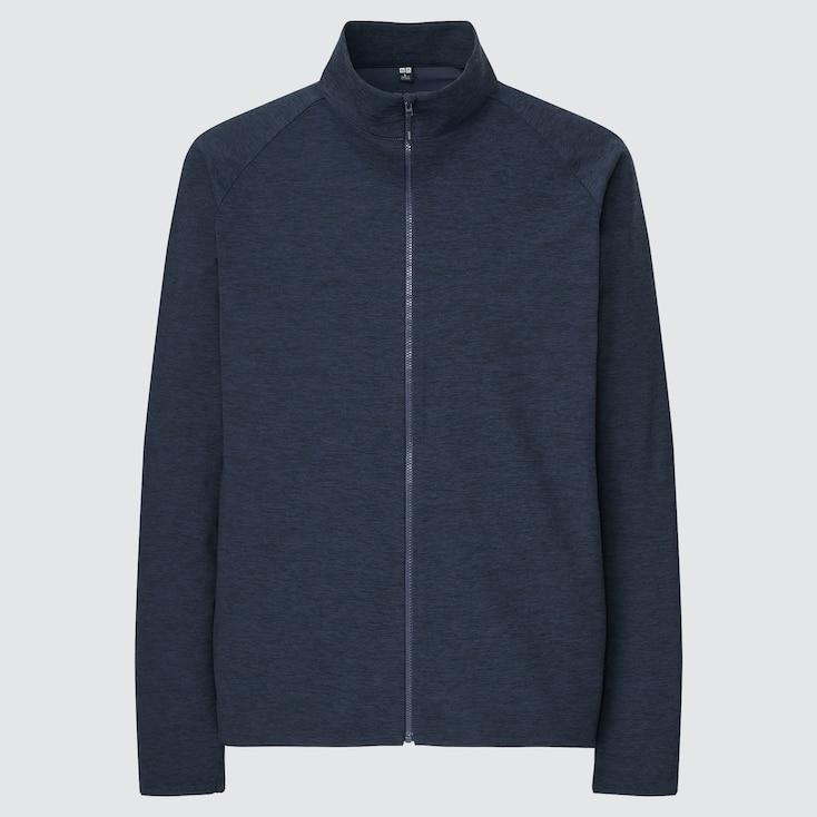 Men Ultra Stretch Active Jacket, Navy, Large