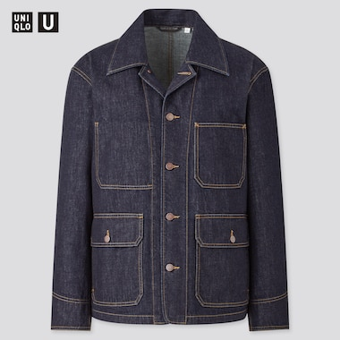 Men U Denim Work Jacket, Navy, Medium