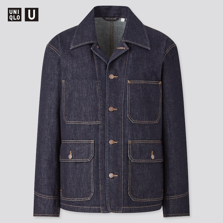 Men's Vintage Workwear Inspired Clothing MEN U DENIM WORK JACKET $59.90 AT vintagedancer.com