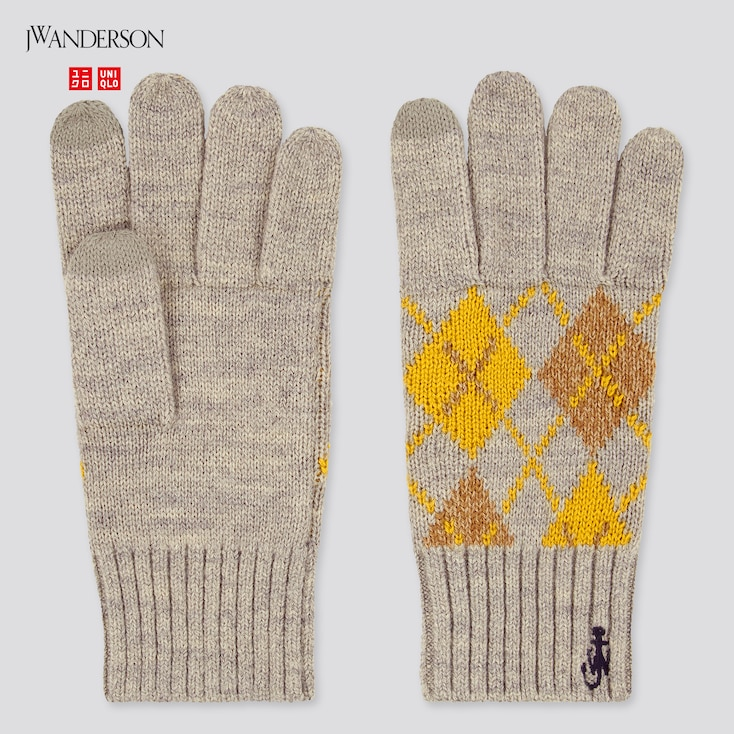 Heattech Gloves (Jw Anderson), Gray, Large