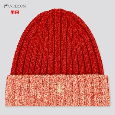 Heattech Knitted Cap (Jw Anderson), Red, Medium