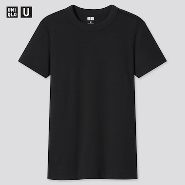 Women U Crew Neck Short-Sleeve T-Shirt, Black, Medium