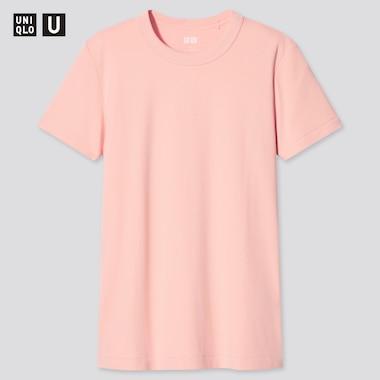 Women U Crew Neck Short-Sleeve T-Shirt, Light Orange, Medium
