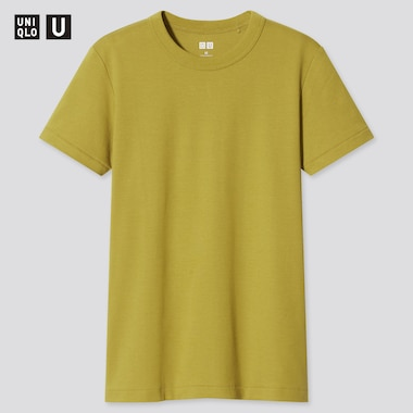 Women U Crew Neck Short-Sleeve T-Shirt, Green, Medium