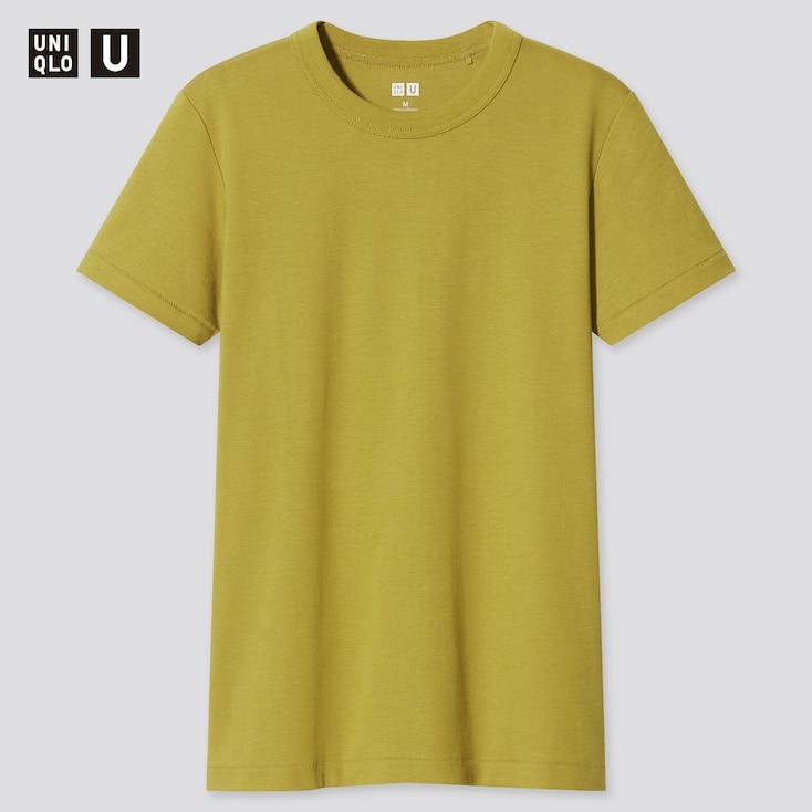 Women U Crew Neck Short-Sleeve T-Shirt, Green, Large