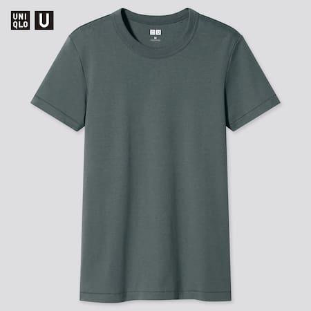 Women Uniqlo U Crew Neck Short Sleeved T-Shirt