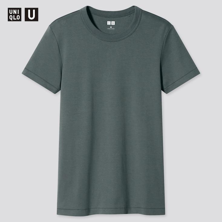 Women U Crew Neck Short-Sleeve T-Shirt, Olive, Large