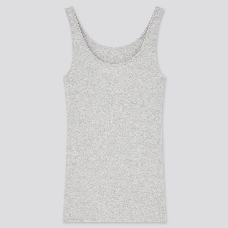 Women Cotton Sleeveless Top, Gray, Large