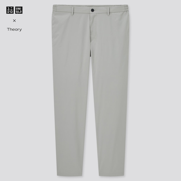 Men Ultra Light Relaxed Pants (Theory), Gray, Large