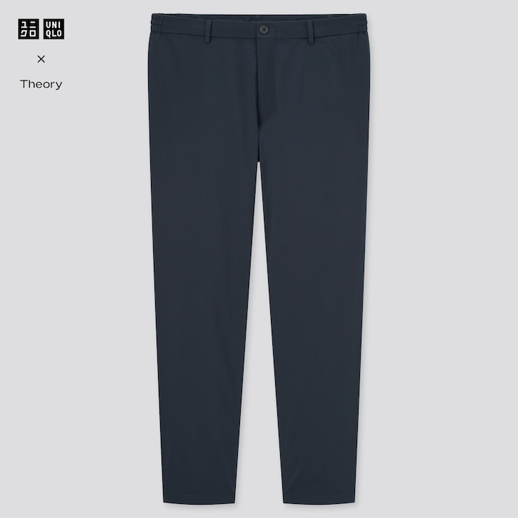 Men Ultra Light Relaxed Pants (Theory), Navy, Large