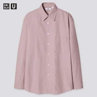 Men Uniqlo U Relaxed Fit Shirt (Regular Collar)