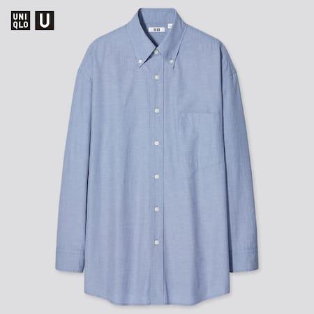 Men Uniqlo U Wide Fit Shirt (Button-Down Collar)