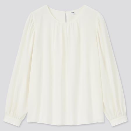 Women Viscose Georgette Volume Long Sleeved Blouse