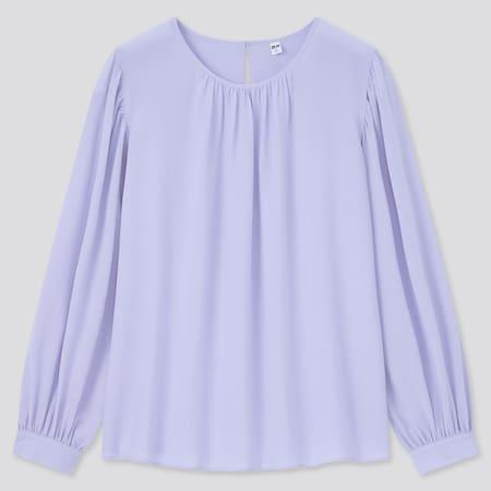 Women Rayon Georgette Volume Long Sleeved Blouse