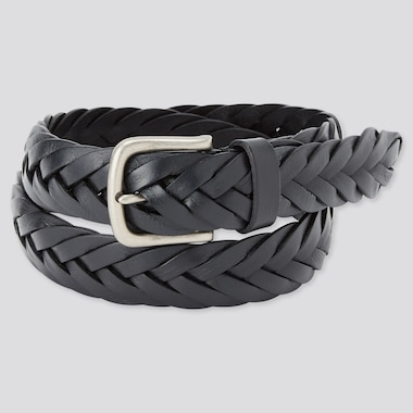 Leather Wide Mesh Belt