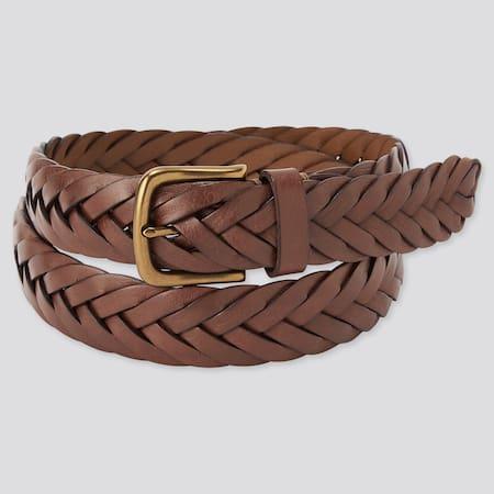 Leather Wide Mesh Belt