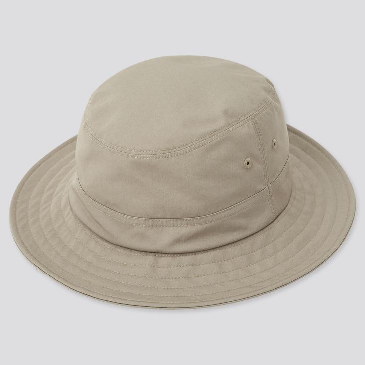 Uv Protection Bucket Hat, Beige, Large