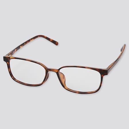 Sonnenbrille mit eckigem Rahmen und klaren Gläsern