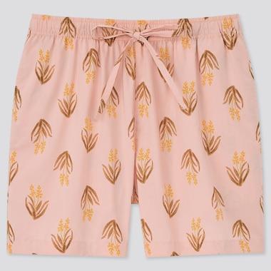 Women Cotton Relaco Shorts, Pink, Medium