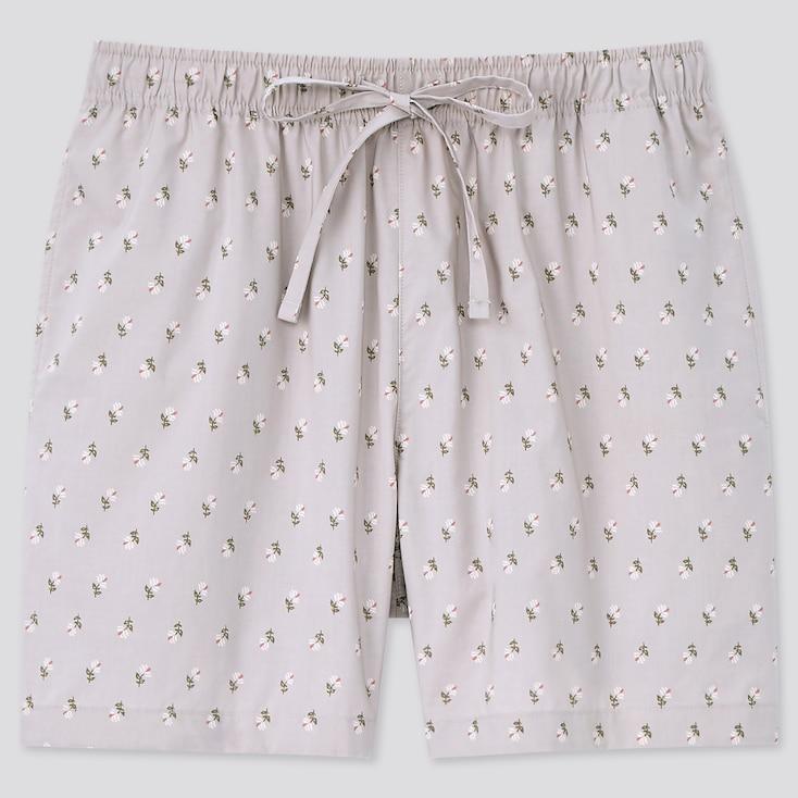Women Cotton Relaco Shorts, Light Gray, Large